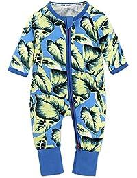 Baby Overalls Schlafanzug Säugling Baumwolle Stramper Spielanzug Kinder Langarm Body Reißverschluss