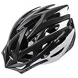 meteor® Fahrradhelm MV29 Unrest: Erwachsene Unisex & Jugendhelme Rad Helm für Radfahrer Radsport Inline-Skate BMX Fahrrad Scooter XL 61-63 cm Schwarz/Weiß