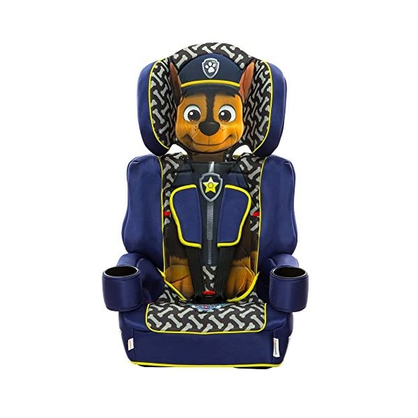 Kids Embrace Group 123 Car Seat Paw Patrol Chase Kids Embrace The kids embrace paw patrol car seat is a fun, stylish and safe, stage 1-2-3, high-back booster seat that can be used from 9 months up until your child reaches 12 years old. Use with the integral 5 point harness when your child is between the ages of 9 months to four years, then use with a car's 3 point seat belt up to the age of 12 years old. The single hand adjustable harness has two height positions and features a quick release buckle for convenience. also includes chest and buckle pads for extra comfort. 2