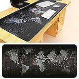 Gaming-Mauspad/Schreibtischunterlage, tragbar, rutschfest, Gummi, Weltkarte, groß, 90cm*40cm