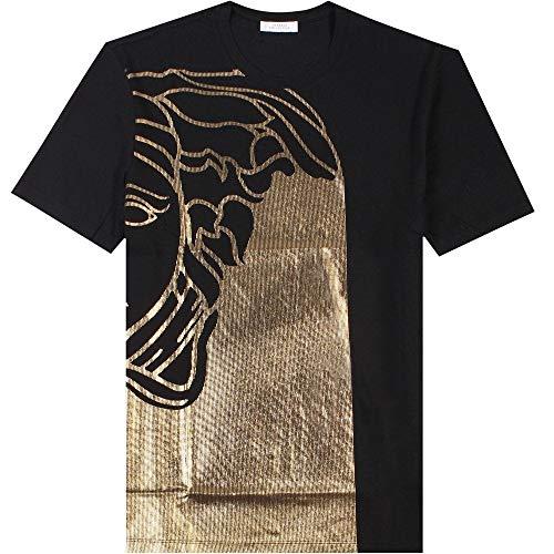 Versace Kollektion halb Medusa T-Shirt schwarz & Gold EXTRA Large Black