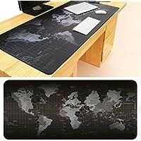 Alfombrilla de escritorio de oficina con diseño de mapa del mundo, gran alfombrilla de ratón, antideslizante, transpirable, lavable, para escritorio, portátil, ordenador portátil, protector de escritorio 90CM x 40CM