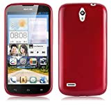 Huawei ASCEND G610 Silikonhülle in ROT von Cadorabo - TPU
