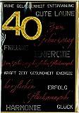 40. Geburtstag Glückwunschkarte Geburtstagskarte mit Zahl