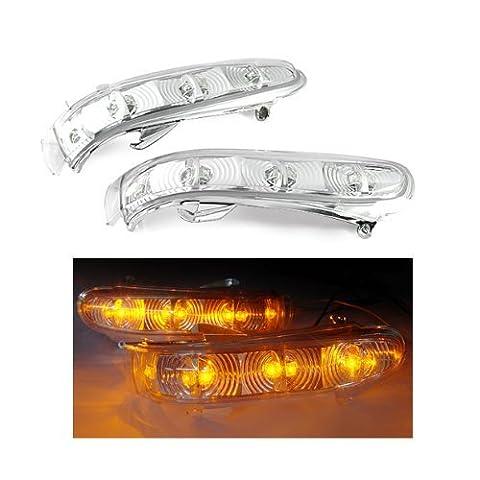 Côté Miroir Balise Tour Signal LED Lampe Lumière Ambre pour Mercedes (Ambra Specchio)