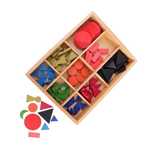 Sharplace Montessori Juguete Educativo Símbolos Básicos de Gramática de Madera para Niños Aprendizaje Temprana