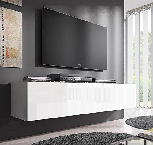 Lettiemobili – Mobile TV modello Forli L (140 cm) Bianco