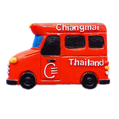 Song Auto See-Lor Chiang Mai Thailand 3D Kühlschrank Kühlschrankmagnet Reisestadt Souvenir Collection Küche Dekoration Whiteboard Aufkleber Harz (Zu Besten Die Halloween Songs)