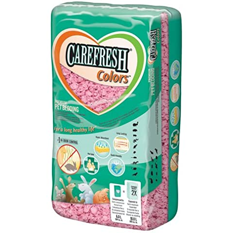 Carefresh Colors Brand Pet Bedding Pink 10 Liter 6pcs - 10 Litri Small Animal Bedding