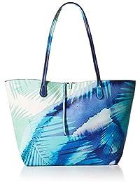 Blue Palms Capri Femme Sac à Bandoulière Bleu Desigual