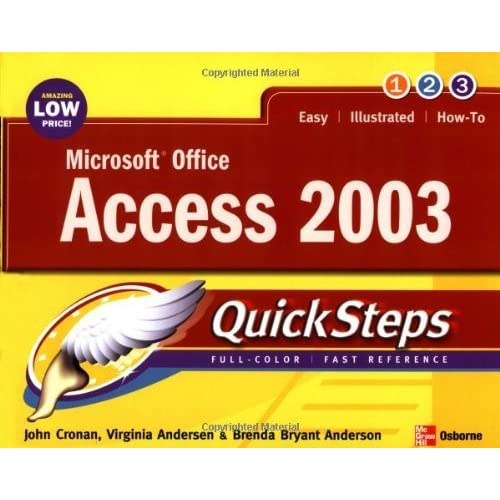Microsoft Office Access 2003 QuickSteps by John Cronan (1-Mar-2004) Paperback