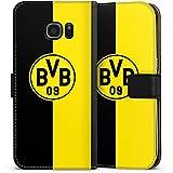 Samsung Galaxy S7 Edge Flip Tasche Schutz Hülle Walletcase Bookstyle Borussia Dortmund BVB Logo