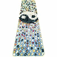 EliteShine Natural Pebbles Massage Mat Cobblestone Health Care Reflexology Massage Yoga Mat