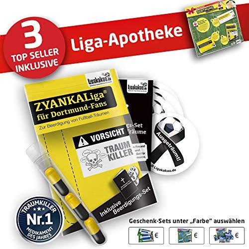 Alles für Dortmund-Fans by Ligakakao.de Dortmund 09 Kapuzen-Pullover ist jetzt die Liga-APOTHEKE Herren Puma Hoody fußball Fan Fleece Sweatshirt schwarz-gelb (Apotheke Sweatshirt)
