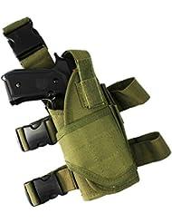 Ajustable de pierna para pístola táctica Airsoft pistola de gota pierna cinturón pierna htuk®, verde