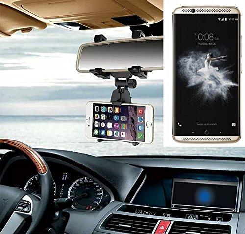 Smartphonehalterung Rückspeigelhalterung für ZTE Axon 7, schwarz | Autohalterung Spiegel KFZ Halter - K-S-Trade (TM)