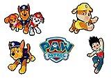 Mono-Quick Paw Patrol, 5er Set Aufbügler,Aufnäher,Bügelbilder,Patch,Sticker,Bilder zum aufbügeln, Polyester, Mehrfarbig, 8cm, 5