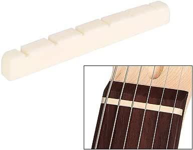Beige Bone Bridge Sattel für Akustikgitarren Ersatzteile Gitarrenbauer DIY