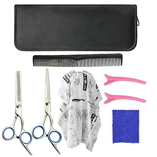 Lytivagen set forbici da parrucchiere in acciaio inox forbici per taglio capelli da 6,7 pollici set di taglio dei capelli professionali con grembiule per principianti, barber, parrucchiere (7 pezzi)