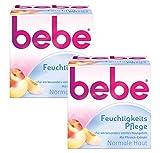 Bebe Feuchtigkeitspflege / Sanfte Feuchtigkeitscreme mit Vitamin E für normale Haut / 2 x 50ml
