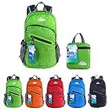 EGOGO multifunktionale haltbar stopfbare handlich leichte Reise Rucksack Daypack Schultasche Wandern Rucksack S2212 (Grün)