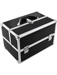Songmics Boîte à bijoux Mallette/ coffrets/ boîte à maquillage, bijoux et cosmétique beauty Case 36,5 x 24 x 24 cm JBC227B