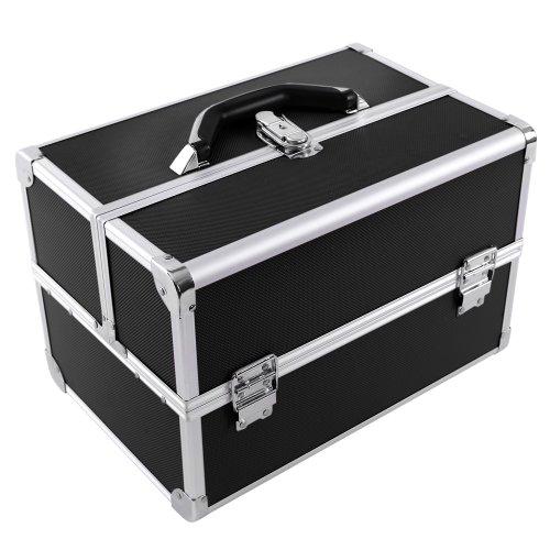 Songmics Vanity Beauty Case Pro.  Lockable Make up Storage JBC227B