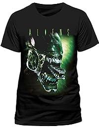 CID Men's Aliens-Alien Head Short Sleeve T-Shirt