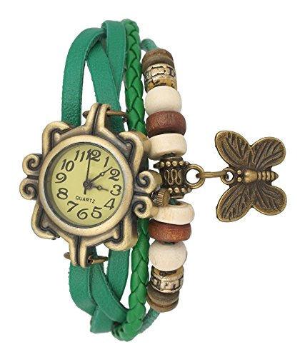 ShopX Analog Butterfly Casual Off-White Beige Dial Women\'s watch Green