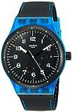 Swatch Unisex Analog Automatik Uhr mit Silikon Armband SUTS402