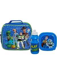 Disney Toy Story Lunch-Set für Kinder, 3-teilig, Lunchbag mit Schultergurt, Brotdose und Sport-Trinkflasche Gr. One size, blau
