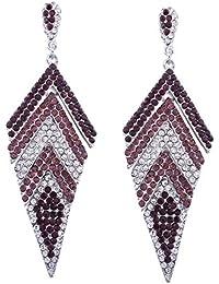 Accesorios largos, pendientes, ganchos para la oreja, pendientes de diamantes geométricos