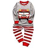 i-uend Baby Christmas Pyjamas - - Kleinkind Kinder Baby Jungen Mädchen Pyjamas Cartoon Printed Tops Hosen Outfits Set für 1-6 Jahre