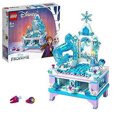 LEGO Disney Princess - Joyero Creativo de Elsa, Set de construcción con cajón con cerradura, espejo y plato giratorio, Incluye Minifigura de Nokk, Juguete de Frozen 2 (41168) de LEGO