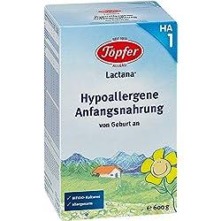 Töpfer Lactana HA1, Hypoallergene Anfangsnahrung, 3er Pack (3 x 600g)