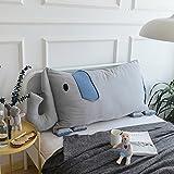 YIWANGO Cartoon Kissen Sofakissen Kleines Rückenkissen Netter Elefant Baumwolle Für Kinderbett,A-145 * 65cm