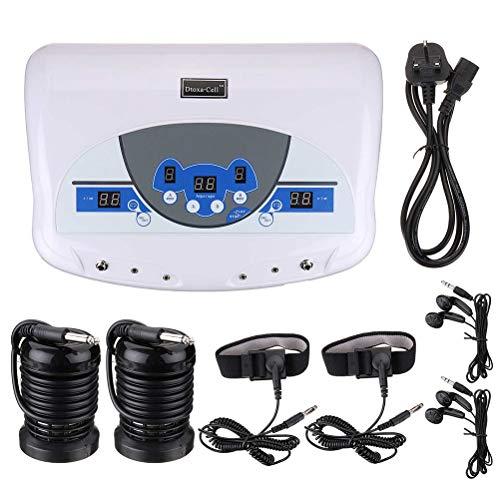 Dual Elektro Ionic Zelle Detox Fußbad Spa Maschine entspannen sich nach Hause Massage LCD w / MP3-Player - Detox-spa-system