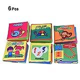 Panno Yosoo Soft libro libro per bambini gioco puzzle e filtro HEPA adatti per 3 mesi a 3 anni per la camera dei bambini, ca, 10 x 9 cm Set of 6