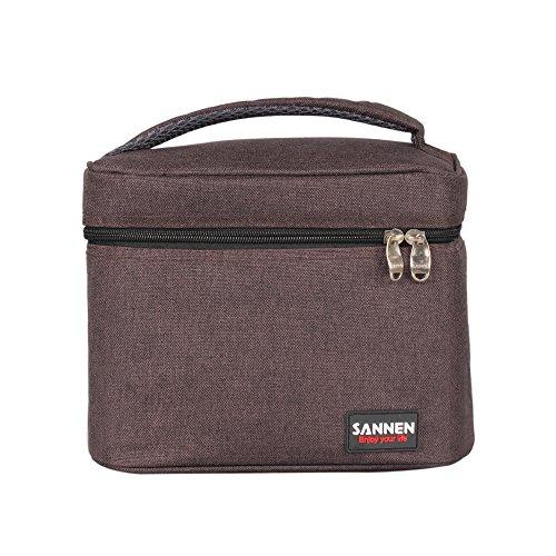 Yvonnelee Hochwertige 5L Kühltasche Thermotasche Lunch Tasche Isoliertasche für Arbeit Schule Mittagessen Picknick Radfahren Einkaufen Unterwegs