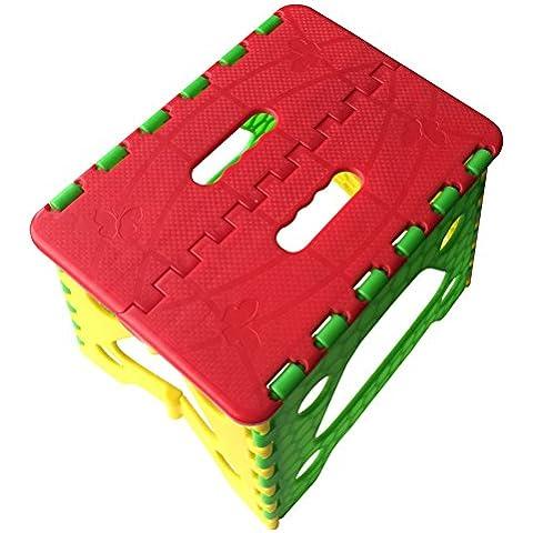 Geartist GS01reforzado resistente plástico plegable taburete de paso para adultos y niños 11