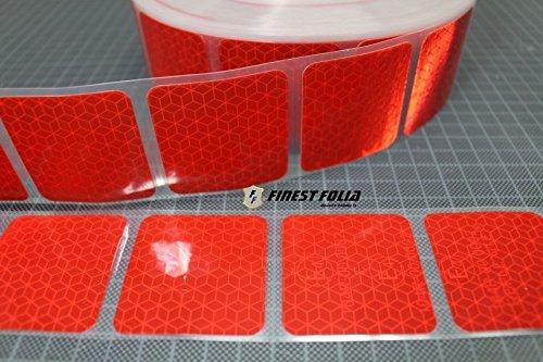 3M Reflexite VC 104+ Curtain Grade Segmentiert Konturmarkierung Reflexband (Rot, 10 Meter (4,90 € / Meter))