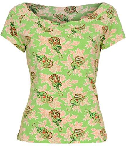 King louie sARAH t-shirt tOP pour guitare Vert - Parrot Green