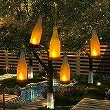 Set di 5 Lampade Solari da Giardino Luci Tremolanti Bottiglia Effetto da Fiamma da Luci Solare Appendibile Decorative All'aperto per il Giardino, Patio, Albero di Chrismas, Partito