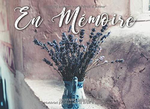 En Mémoire: Registre de Condoléances (Fleurs de lavande dans un vase) par  Souvenirs Memorial