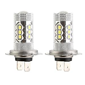 cicmod 2x h7 80w 1500 lumens ampoules led feux de brouillard diurne lampe au x non. Black Bedroom Furniture Sets. Home Design Ideas