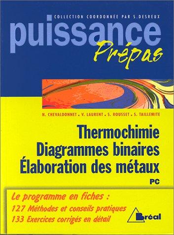 Thermochimie, diagrammes binaires, élaboration des métaux : PC