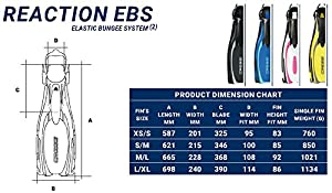 Cressi Reaction EBS - Aletas de buceo