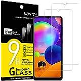 NEW'C 2-Stuks, Screen Protector voor Samsung Galaxy A31, Gehard Glass Schermbeschermer Film 0.33 mm ultra transparant, ultra