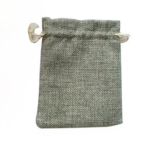 Pixnor Baumwollbeutel Sackleinen Leinen Jute Tasche Schmuck Beutel Zugband Geschenktüten Organzabeutel Säckchen Beutel - 10 Stücke Schöne Beute