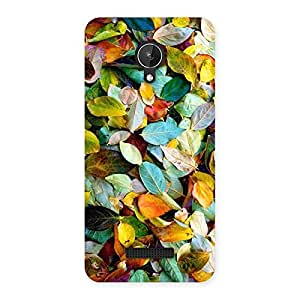 NEO WORLD Remarkable Colorful Leafs Back Case Cover for Micromax Canvas Spark Q380